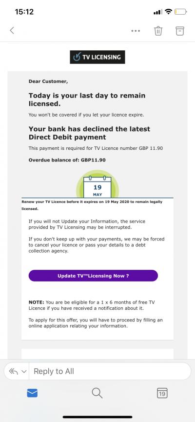 TV Licence Scam