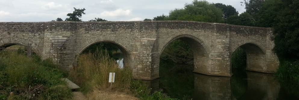Teston Bridge in calm water
