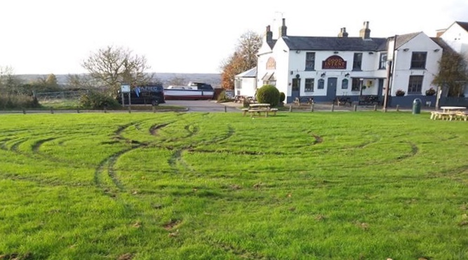 Damage to village green